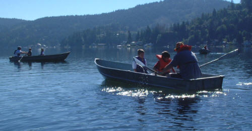 Camp Thunderbird offers rowing, canoeing and kayaking on Summit Lake
